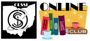 "OLSSI logo and ""Online Book Club"" art with coffee cups."