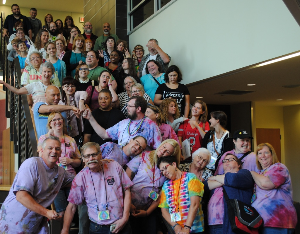 Group photo of OLSSI attendees being silly